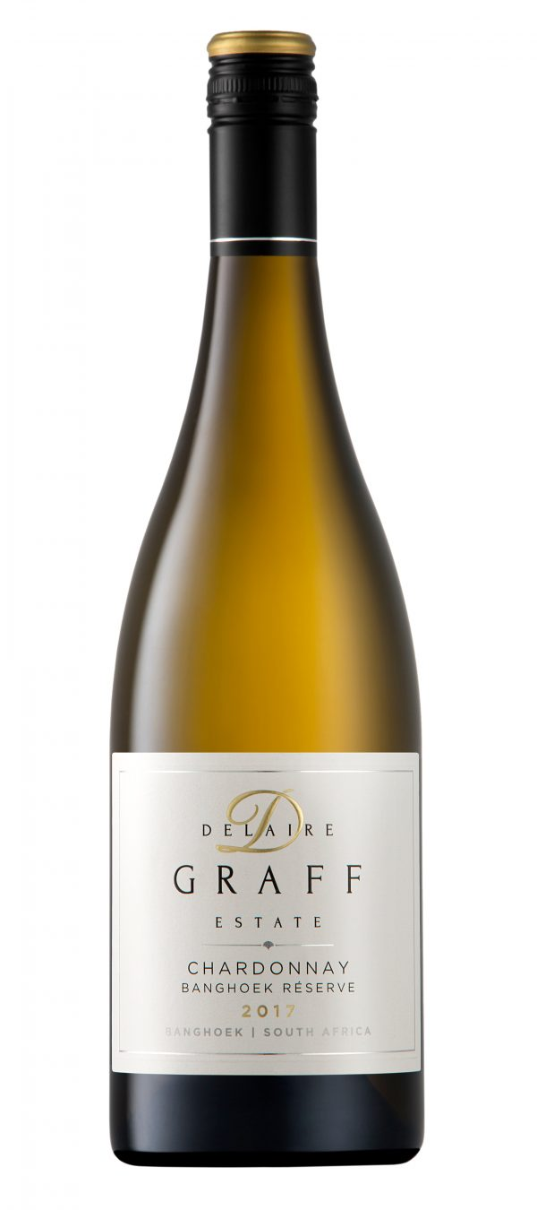 A bottle of Delaire Graff Chardonnay Banghoek Reserve 2017