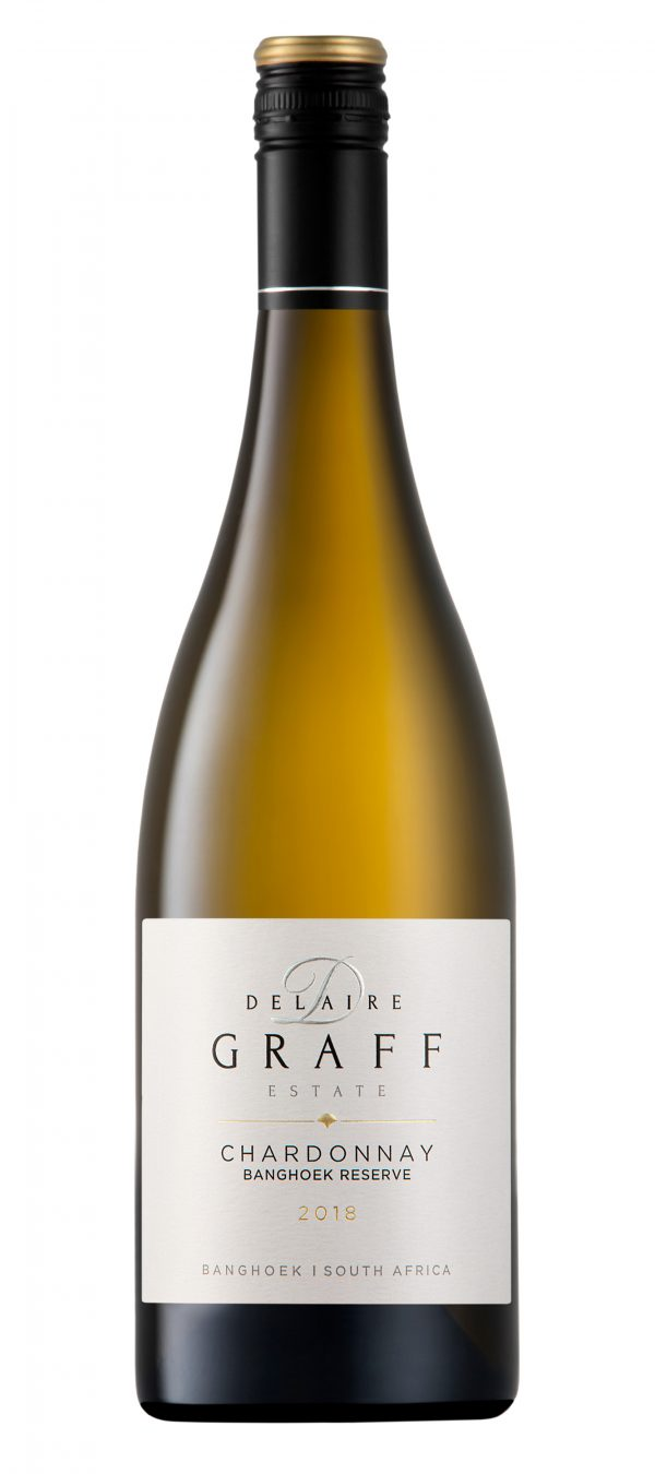 A bottle of Delaire Graff Chardonnay Banghoek Reserve 2018