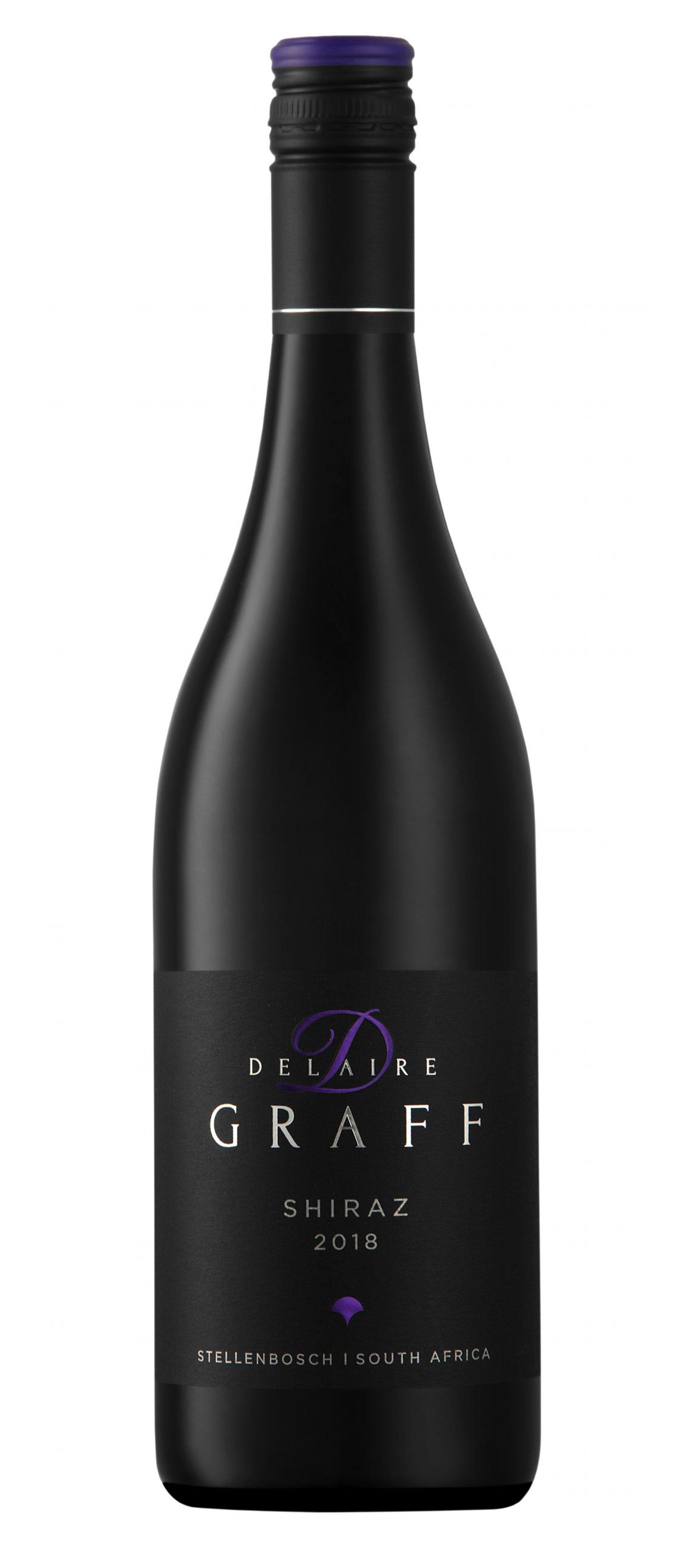 A bottle of Delaire Graff Shiraz 2018