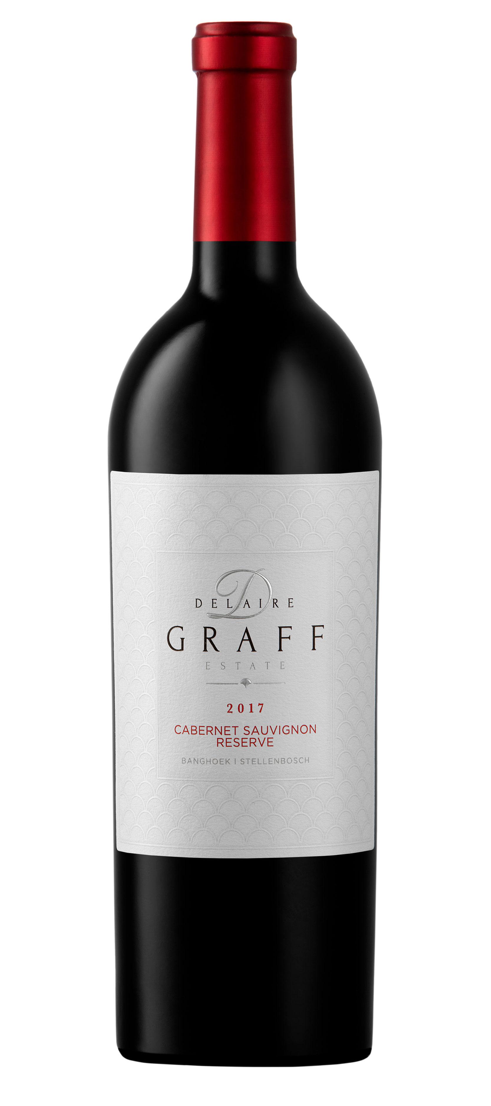 A bottle of Delaire Graff Cabernet Sauvignon Reserve 2017