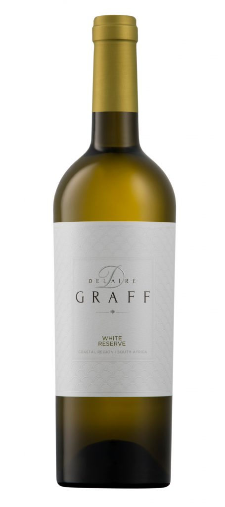 A bottle of Delaire Graff White Reserve wine