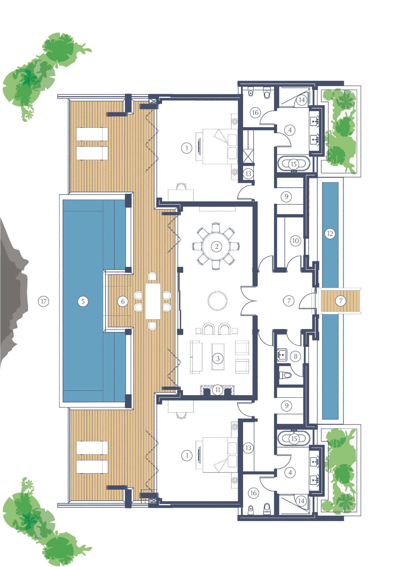 Deliare Graff Estate Presidential Lodge 1 Floorplan
