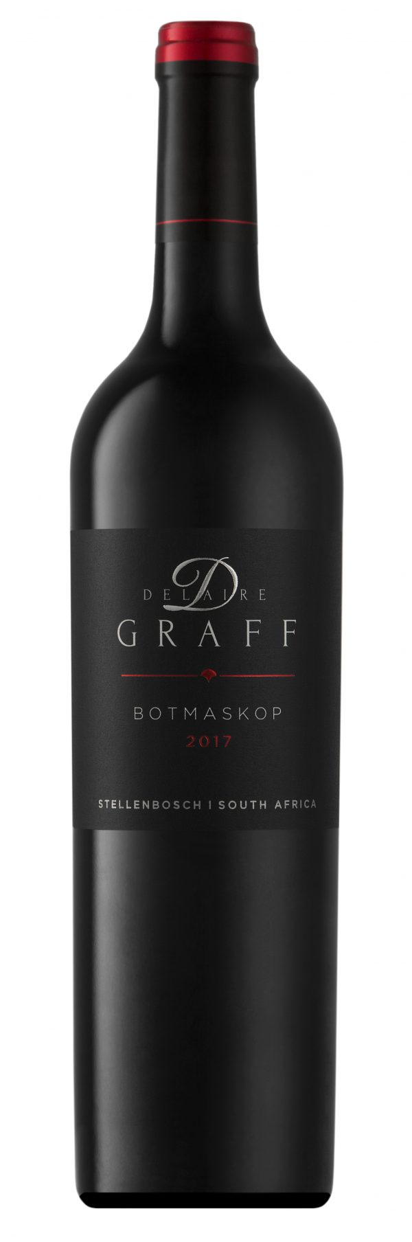 A bottle of Delaire Graff Botmaskop wine