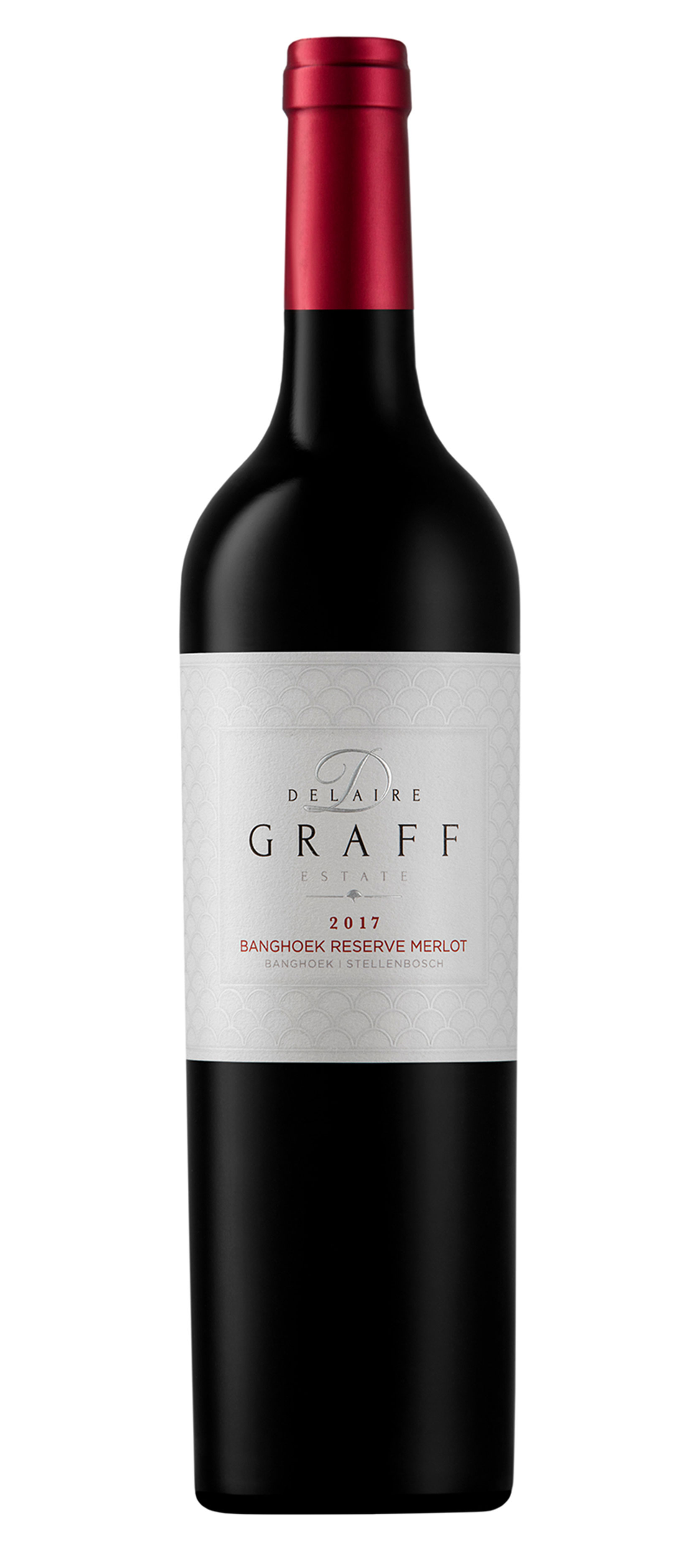 A bottle of Delaire Graff Banhoek Reserve Merlot 2017