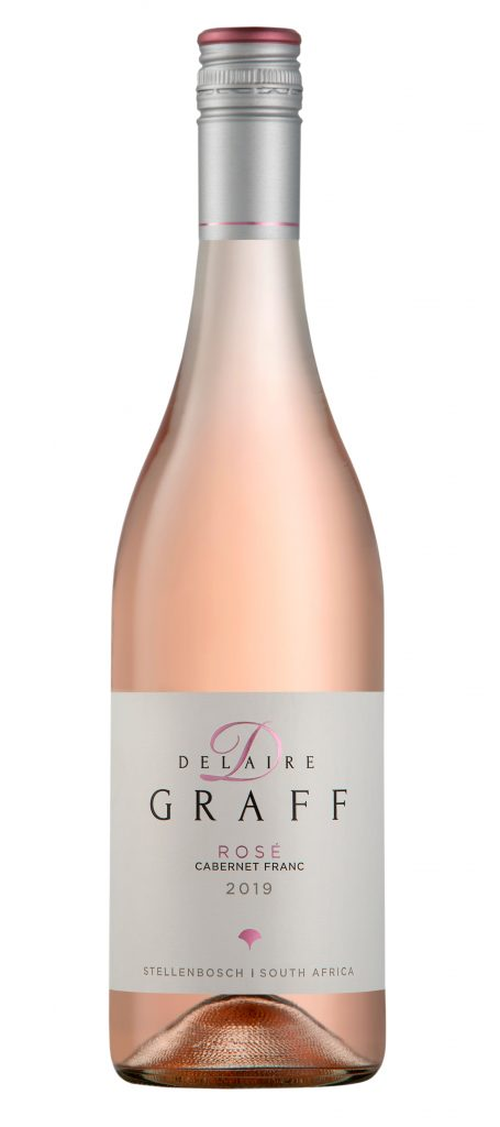A bottle of Delaire Graff Rose Cabernet Franc 2019