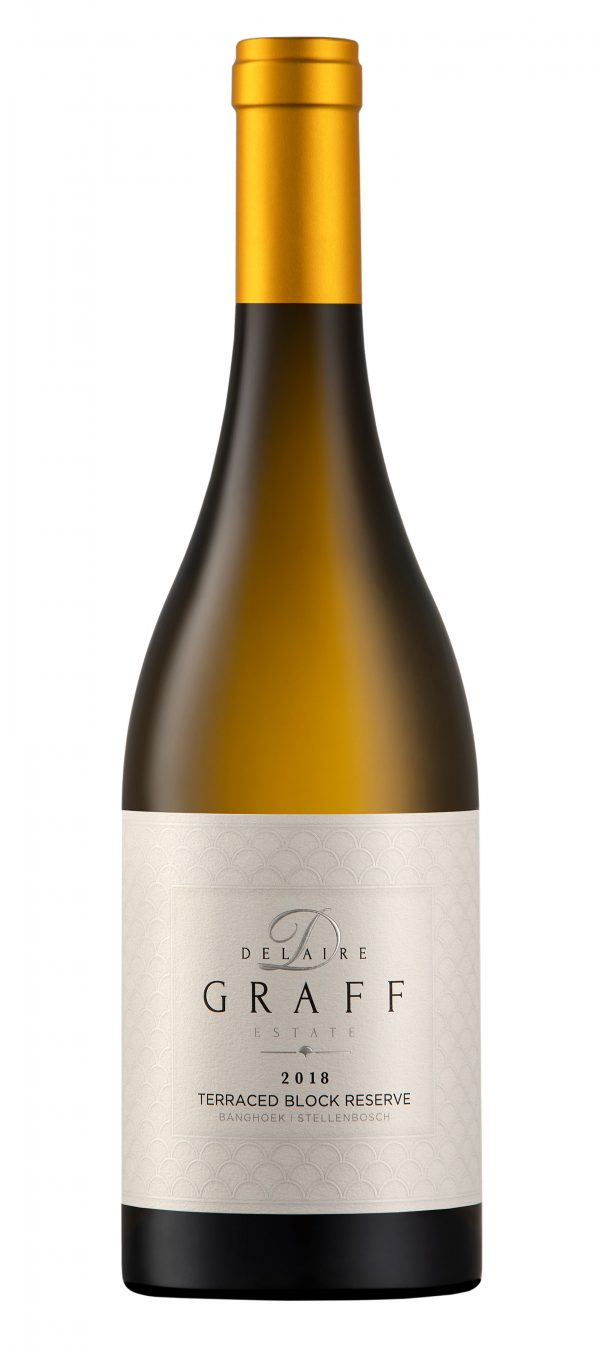 A bottle of Delaire Graff Terraced Block Reserve 2018