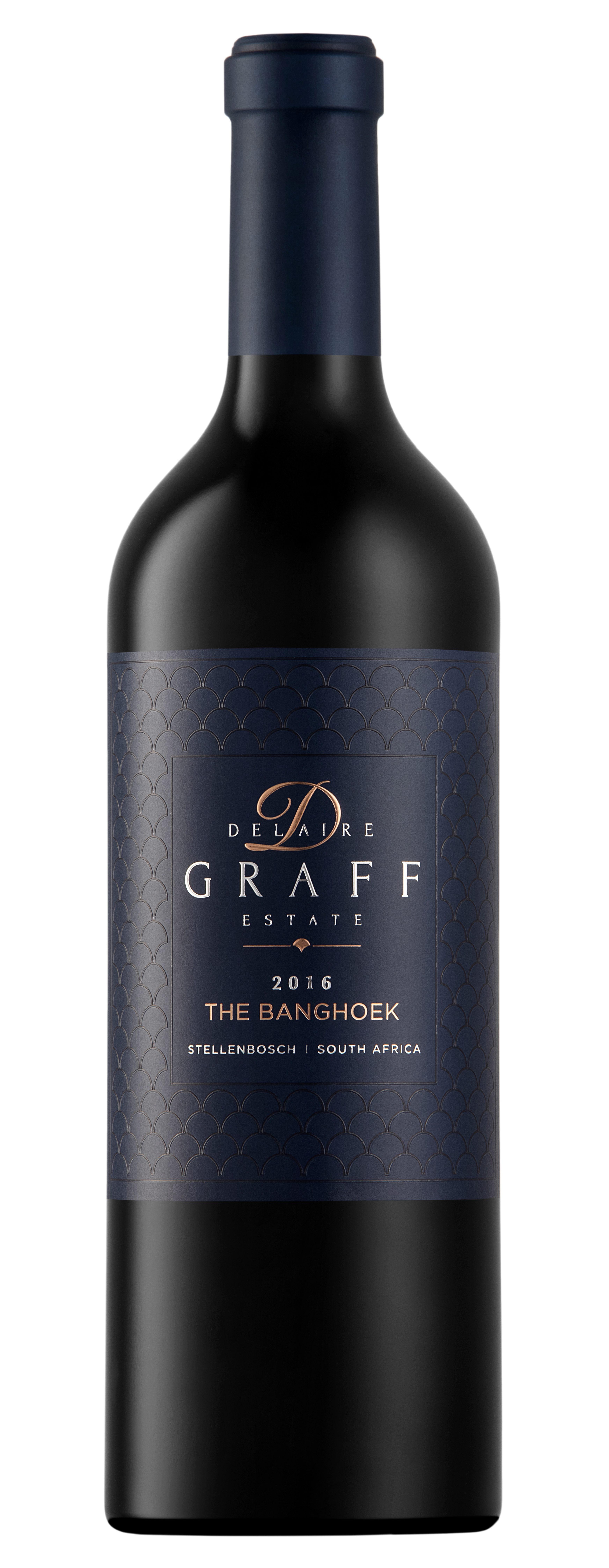 A bottle of Delaire Graff Estate The Banghoek 2016 wine