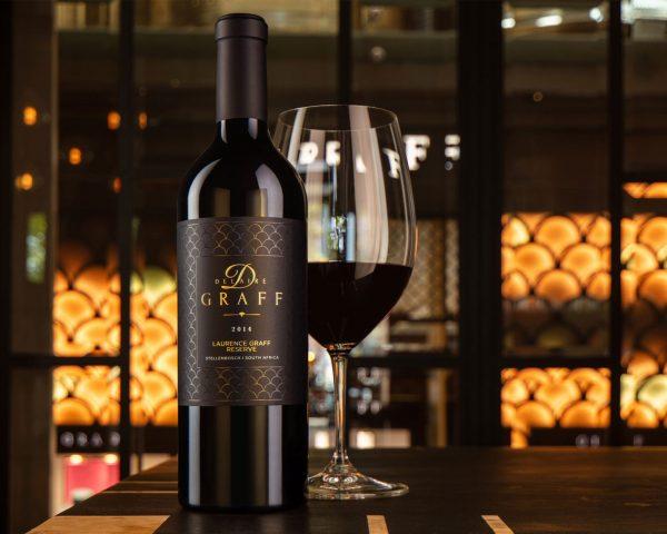 A bottle of Laurence Graff Reserve Cabernet Sauvignon wine
