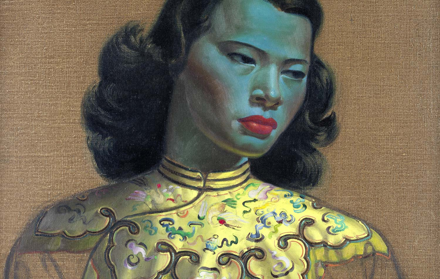 The 1952 painting of a Chinese Girl by Vladimir Tretchikoff on display at Delaire Graff Estate