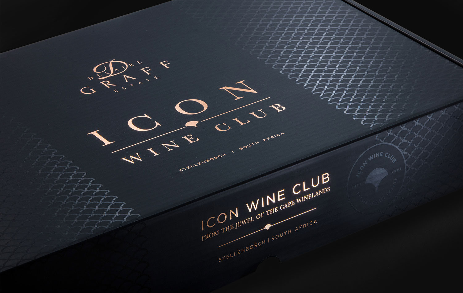 An Icon Wine Club wine gift box