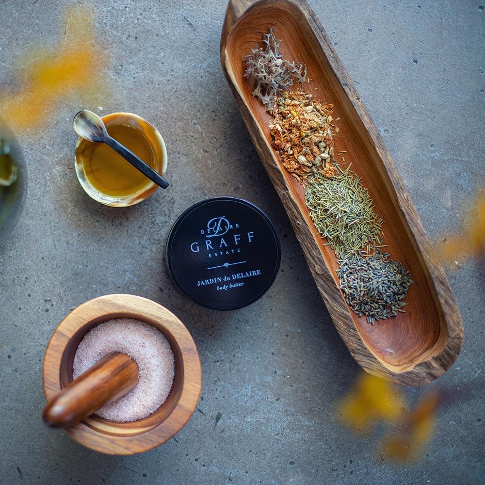 delaire graff spa jardin du delaire body butter