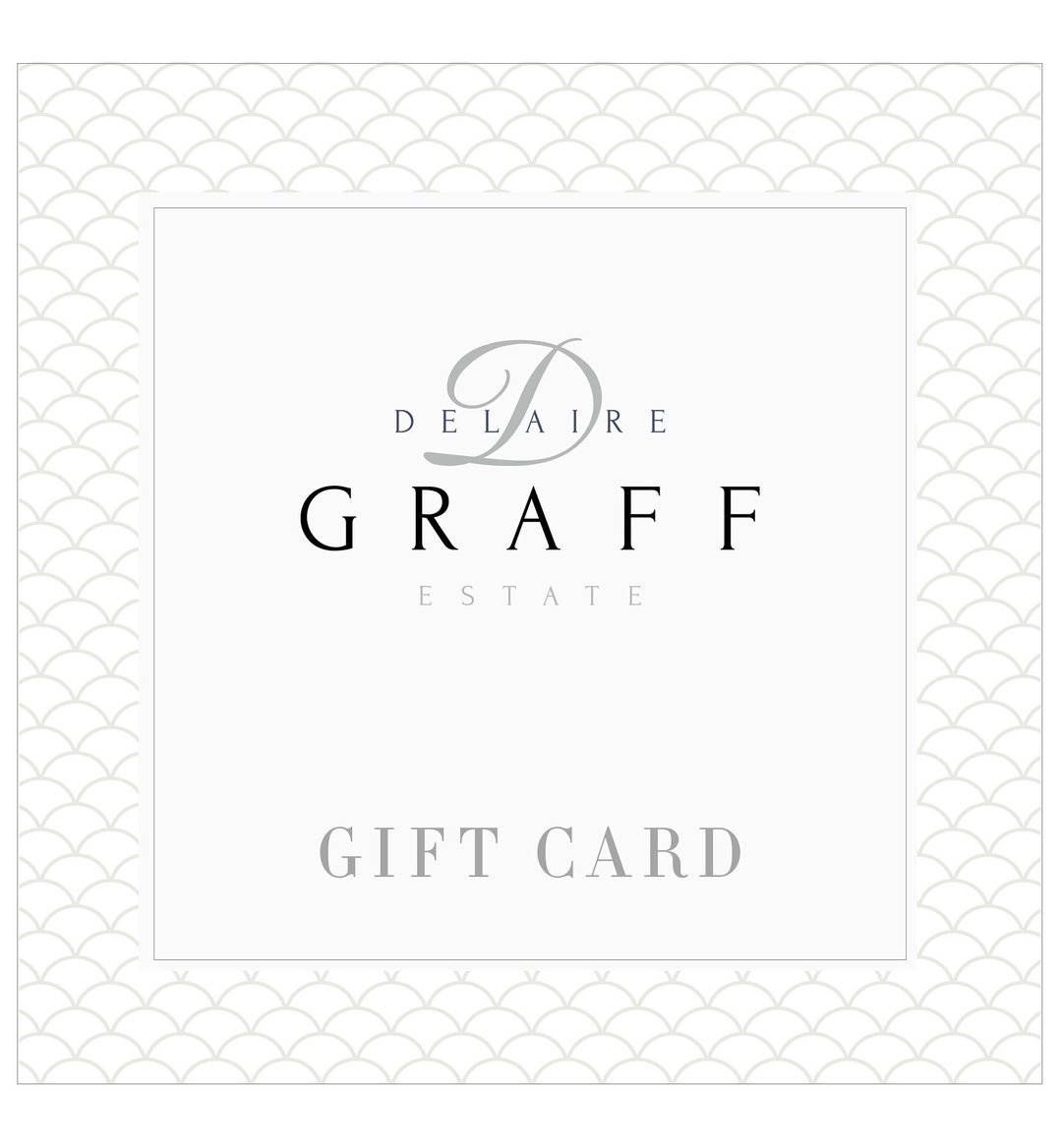 A Delaire Graff Estate gift card