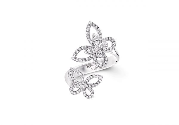 A Graff butterfly silhouette ring