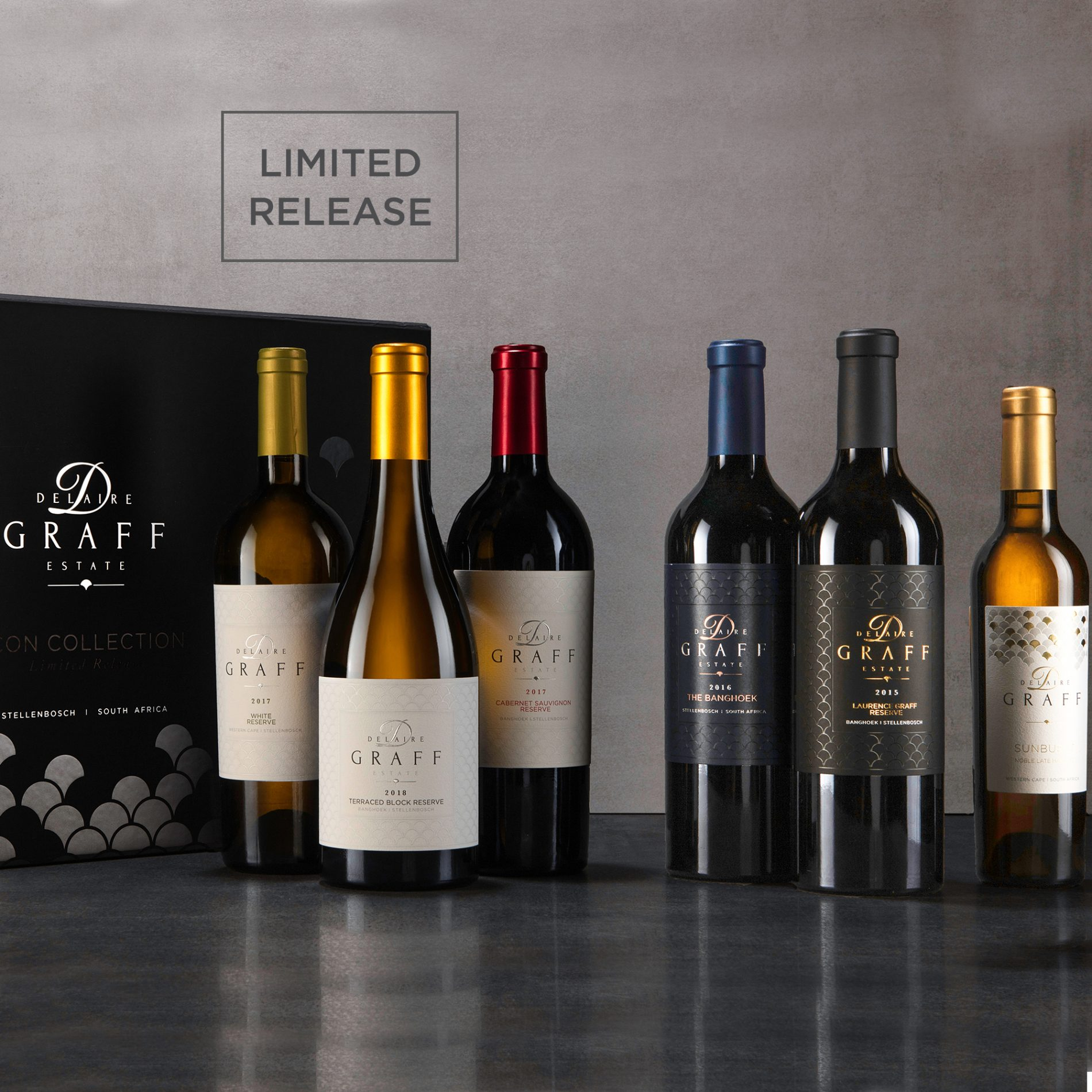 A case of Delaire Graff Icon wine