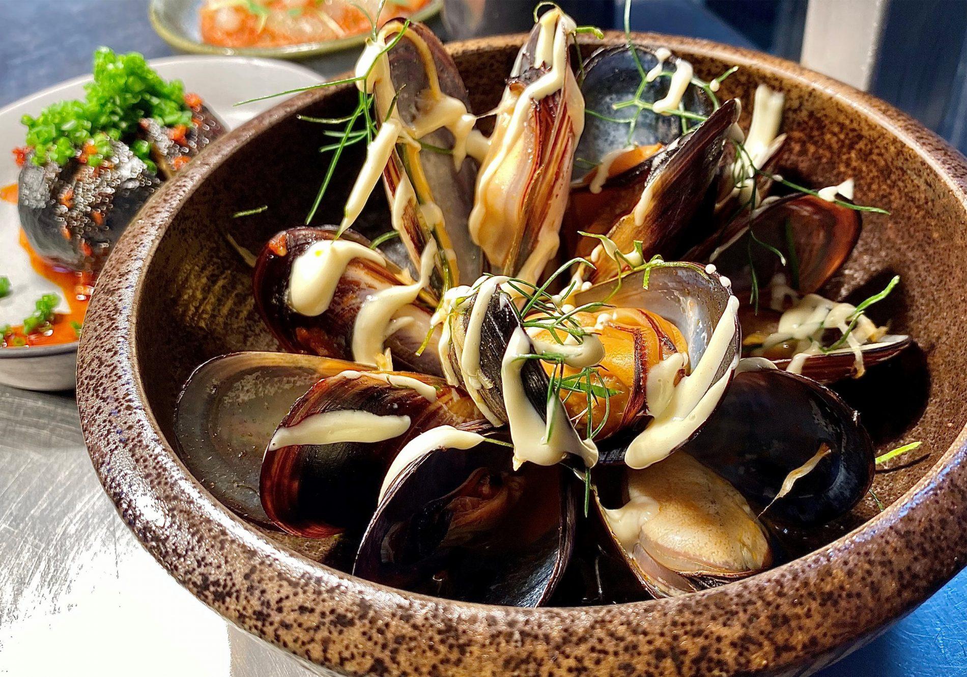 Gochujang mussels by Indochine head chef Virgil Kahn